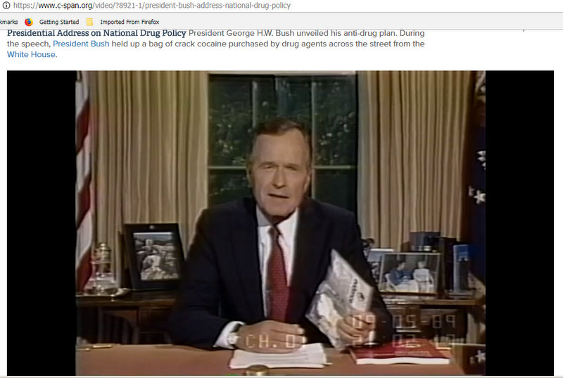 President Bush Address National Drug Policy, Sep 5 1989 Video C-SPAN.org - Google Chrome 6202018 113353 PM