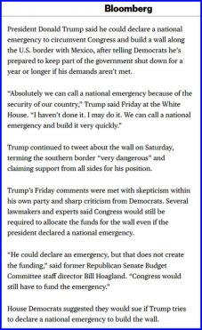 trump says he can declare national emergency to build wall - bloomberg - mozilla firefox 182019 12602 am